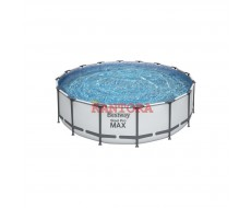 Каркасный круглый бассейн Bestway 5612Z 488x122 см с фильтр-насосом и аксессуарами