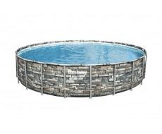 Каркасный круглый бассейн Bestway 56889, 671x132 см с фильтром и аксессуарами