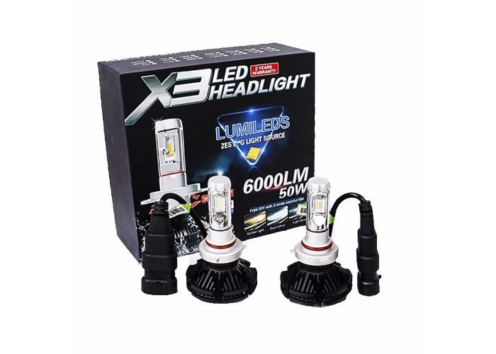 X3 Led Headlight H10 6000lm 50w