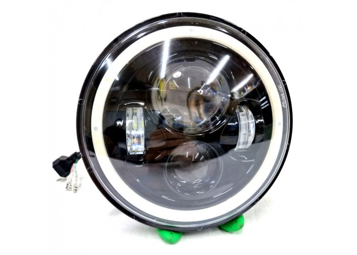 Фара LED круглая светодиодная для УАЗ, ВАЗ, Гелик Faroda milha