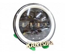 Фара AG-4 (B) круглая светодиодная для УАЗ, ВАЗ, Гелик