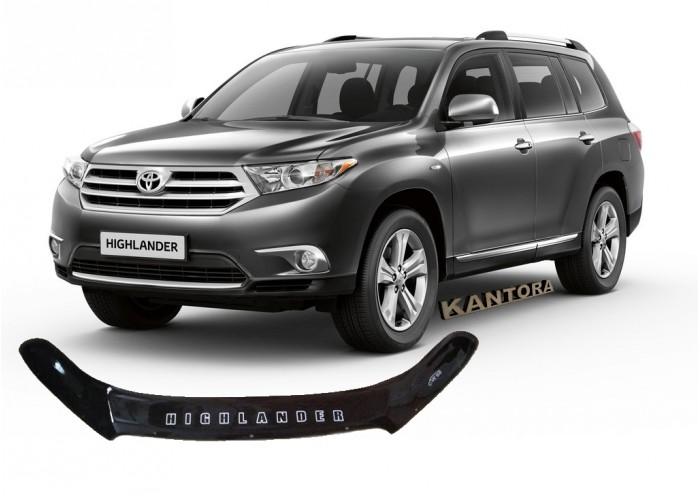 Дефлектор капота Toyota Highlander XU40 2010-2013 mb