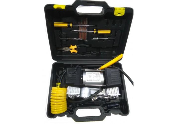 Компрессор автомобильный 55 л/мин в чемодане с ремкомплектом