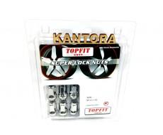 Гайки TopFit 1,5 хром секретки закрытые Тойота Хонда Мазда