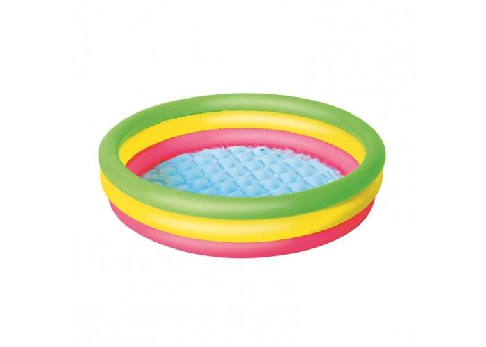 Детский надувной бассейн с надувным дном Bestway 51104 102х25 см