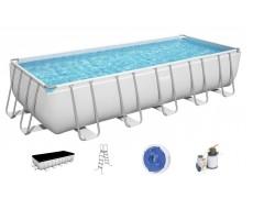 Каркасный прямоугольный бассейн Bestway 5612B 640x274x132 см с аксессуарами