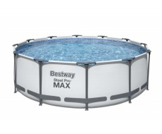 Каркасный круглый бассейн Bestway 56420 366х122 см с картриджным фильтром, тентом и лестницей