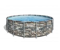 Каркасный бассейн Bestway 56886  549х132 см + фильтр-насос 5678л/ч, тент, лестница