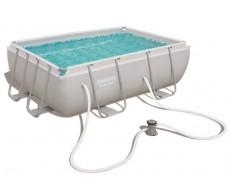 Каркасный прямоугольный бассейн Bestway 56629 282х196х84 см + фильтр-насос 1249 л/ч