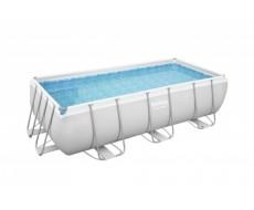 Каркасный прямоугольный бассейн Bestway 56442  404х201х100 см + лестница, песочный фильтр-насос 3028 л/ч