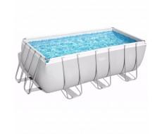 Каркасный прямоугольный бассейн Bestway 56457  412х201х122 см + песочный фильтр-насос 3028 л/ч, лестница