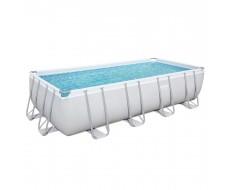 Каркасный прямоугольный бассейн Bestway 56466 549х274х122 см с песочным фильтром, лестницей и тентом