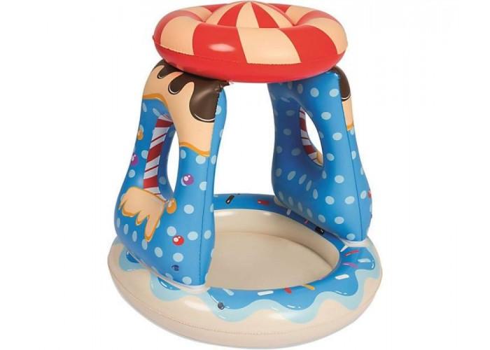 Детский надувной бассейн с навесом Bestway 52270 91х91х89см 26л