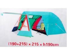 Палатка туристическая 3х-местная EasyLife ХР-6223 с кухней и навесом 2,15х2,15х1,9 м