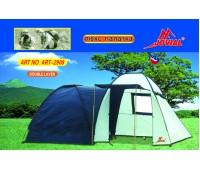 Палатка туристическая 4х-местная Jovial 2908 с навесом 2,4+2,1*2,4*2,0*1,95м