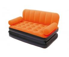 Надувной диван кровать оранжевый Bestway 67356 + насос, 188х152х64 см