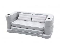 Надувной диван кровать серый BestWay 75063, 200x160x64 см