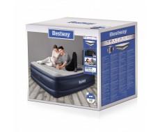 Надувная кровать Bestway 67692 193х203х56см с подголовником, встроенный насос 220В