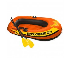 Надувная лодка Intex 58331 Explorer-200-Set двухместная 185*94*41 см + насос и весла