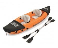 Надувная байдарка Bestway 65077, Lite-Rapid X2 Kayak, 2 местная, вёсла, 321х88х48 см